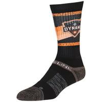Houston Dynamo Team Crew Socks - Black - OSFA