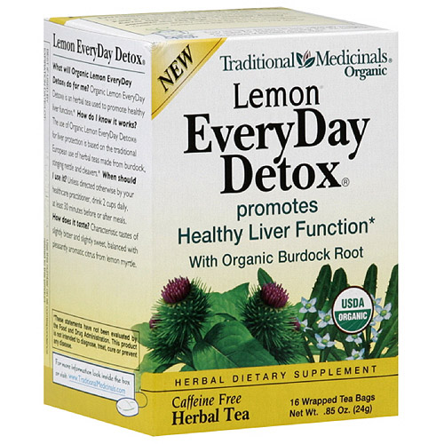 Traditional Medicinals Lemon EveryDay Detox Tea, 16 ct (Pack of 6)
