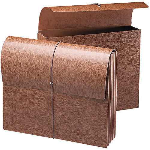 Smead - 3 1/2 Inch Accordion Expansion Wallets, Letter - Leather-Like Redrope