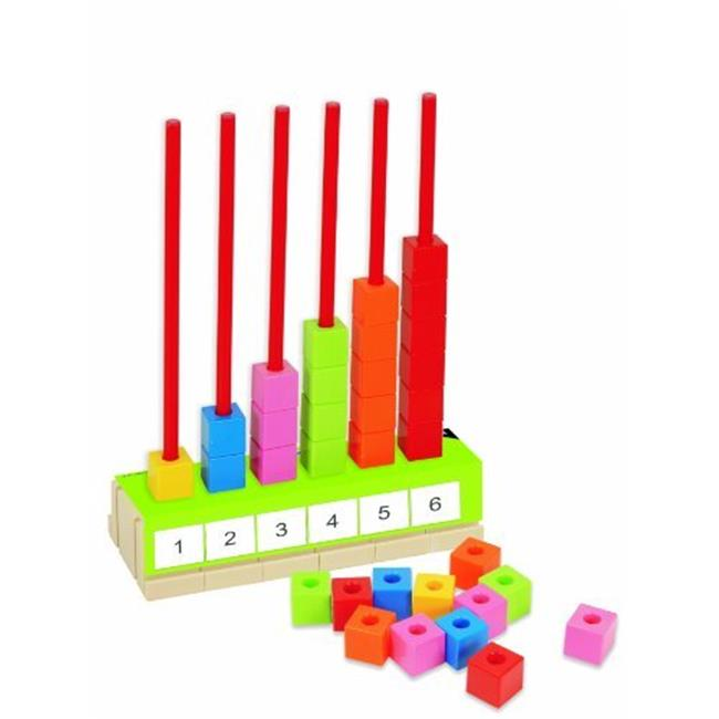 Miniland Educational Corp 95053 Abacus - 90 cubes and 12 activity cards