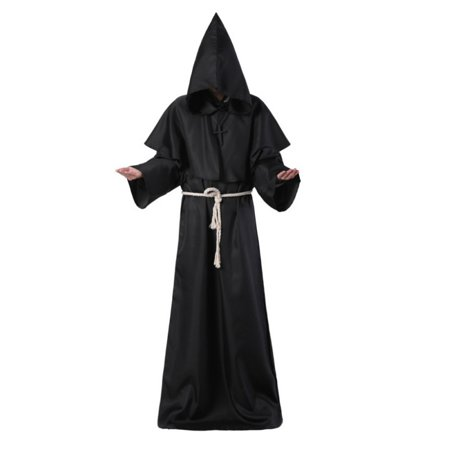 Cheap Halloween Fancy Dress Costumes (Christian Priest Robe Coat Unisex Halloween Cloak Fancy Dress Party)