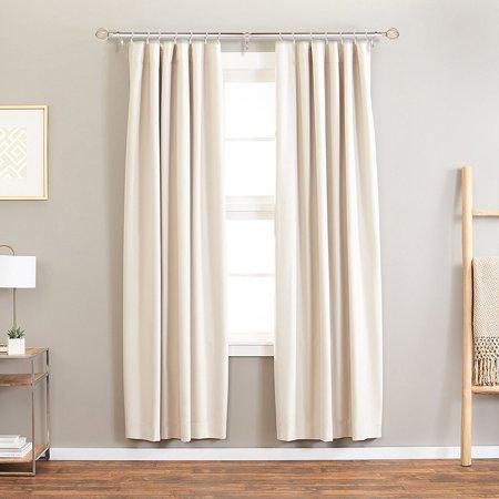 Adjustable Tension Rod Pole Curtain Window Rod Hanger Drapery Pole ()
