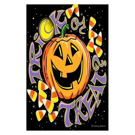 Treats Garden Flag (Toland Home Garden Trick Or Treat Double Sided)