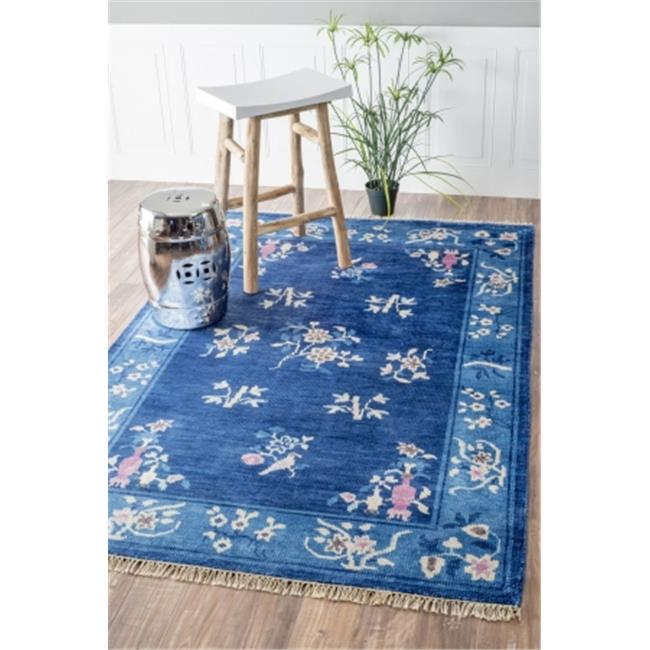 nuLOOM SBDD03A-508 Hand Knotted Jean Chinese Art Deco Rug...