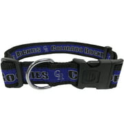 Pets First MLB Colorado Rockies Dogs and Cats Collar - Heavy-Duty, Durable & Adjustable - Large