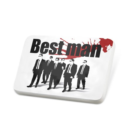 Porcelein Pin Wedding Blood Best man Reservoir Dogs Lapel Badge –