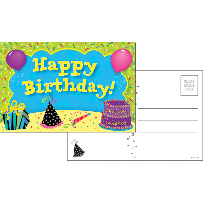 HAPPY BIRTHDAY POSTCARDS 30 PK