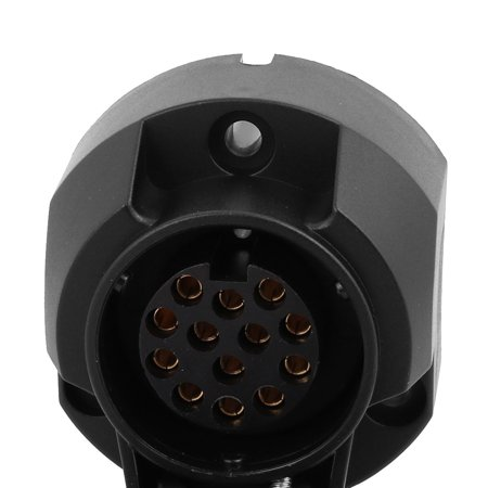 5pcs TS01A 13P Female Trailer Jack Socket Nylon Housing Coated Copper Core Black - image 2 of 3