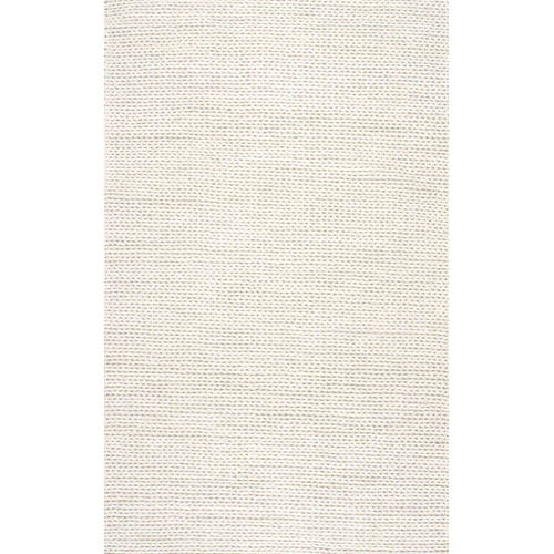 nuLOOM Braided Chunky Woolen Cable Area Rug or Runner