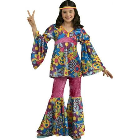 Forum Novelties Girls Deluxe Designer Collection Flower Power Child Costume