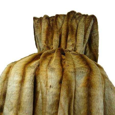 Sheared Faux Chinchilla Throw