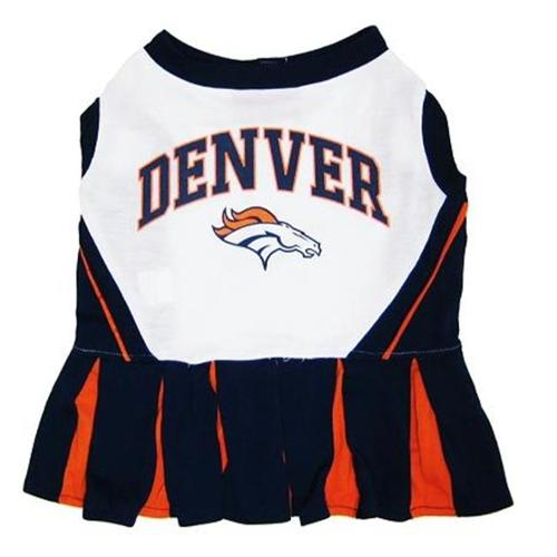 Pets First DBCLO-SM Denver Broncos NFL Dog Cheerleader Outfit - Small