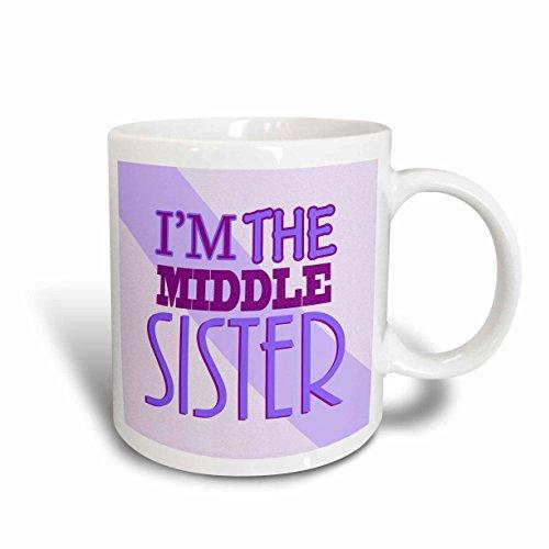 3dRose Im the Middle Sister Purple, Ceramic Mug, 11-ounce