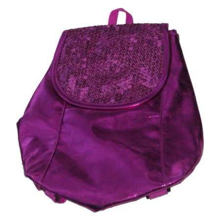 Confetti Hot Pink Sequin Mini Backpack Girls Sparkling Back Pack Purse - Sequin Pink Backpack