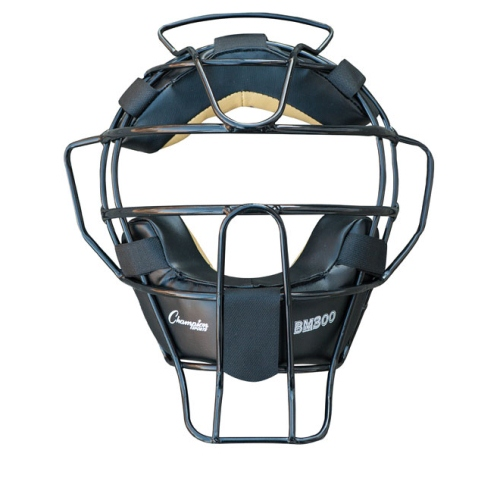 Champion Sports Umpire Face Mask Ultra Lightweight Black by Champion Sports