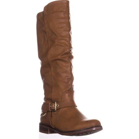 Womens XOXO Mauricia Tall Flat Riding Boots, Tan