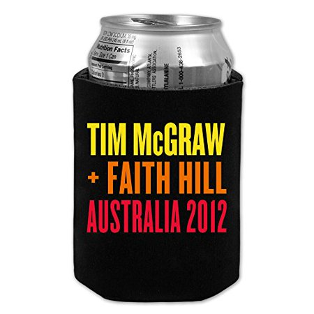 Officially Licensed Tim Mcgraw Faith Hill 2012 Australian Tour Collapsible Beer Holder