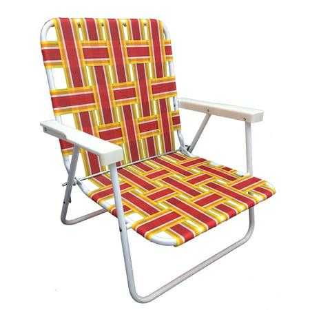 Mainstays Folding Web Beach Chair Walmart Com