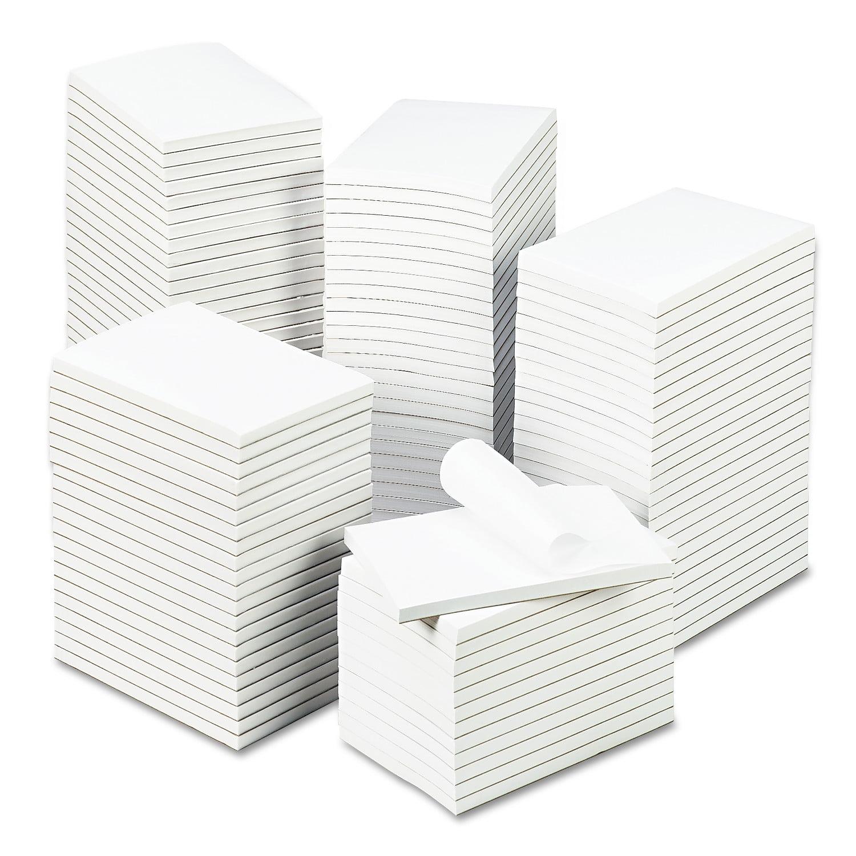 """Universal Bulk Scratch Pads, Unruled, 4"""" x 6"""", White, 100-Sheet Pads, 120 Pads/Carton"""