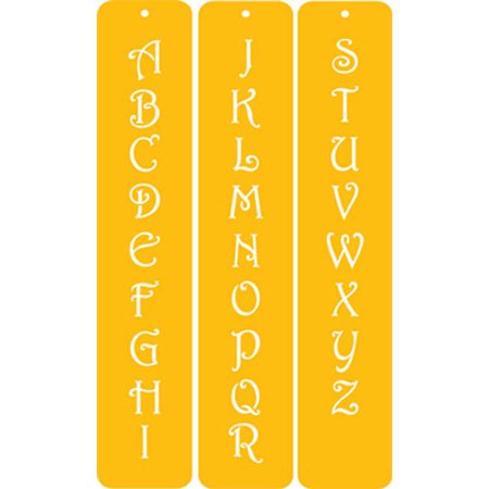"Designer Stencils Contemporary Monogram Letters 1.25"""