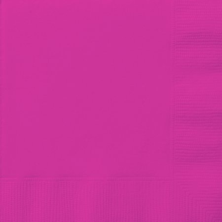 Neon Party Supplies (Paper Luncheon Napkins, 6.5 in, Neon Pink,)
