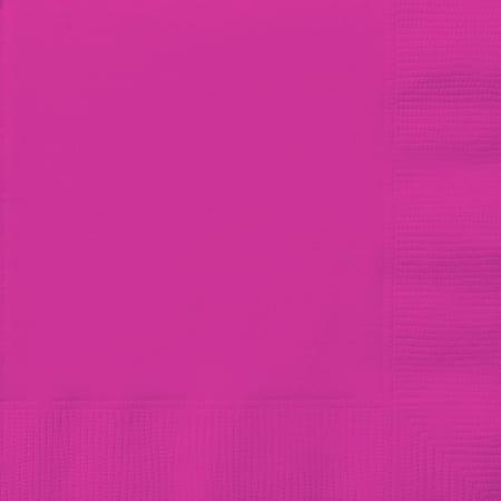 Paper Luncheon Napkins, 6.5 in, Neon Pink, 20ct - Neon Pink Paper