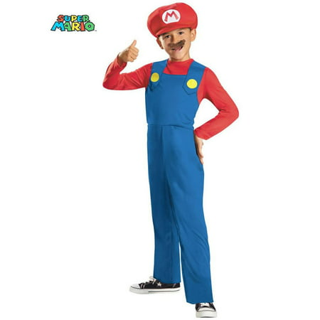 Super Mario Dress Up Costume (Super Mario Bros. Mario Classic Child)