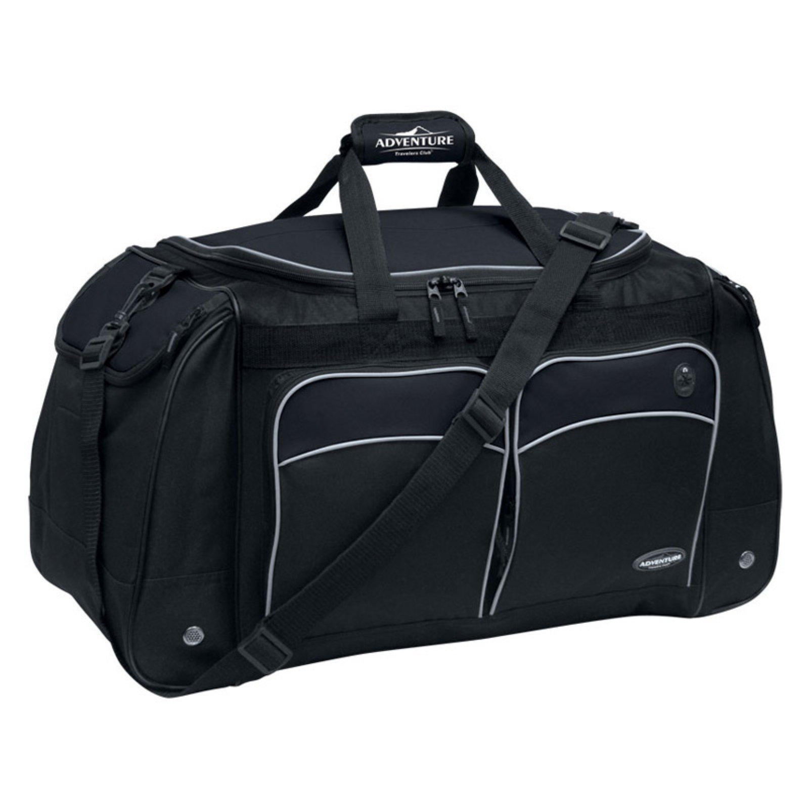 "Travelers Club 28"" Jumbo Multi-Pocket Duffel - Black"