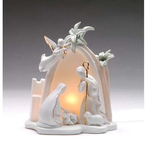 Cosmos Gifts Bethlehem Holy Family Night Light