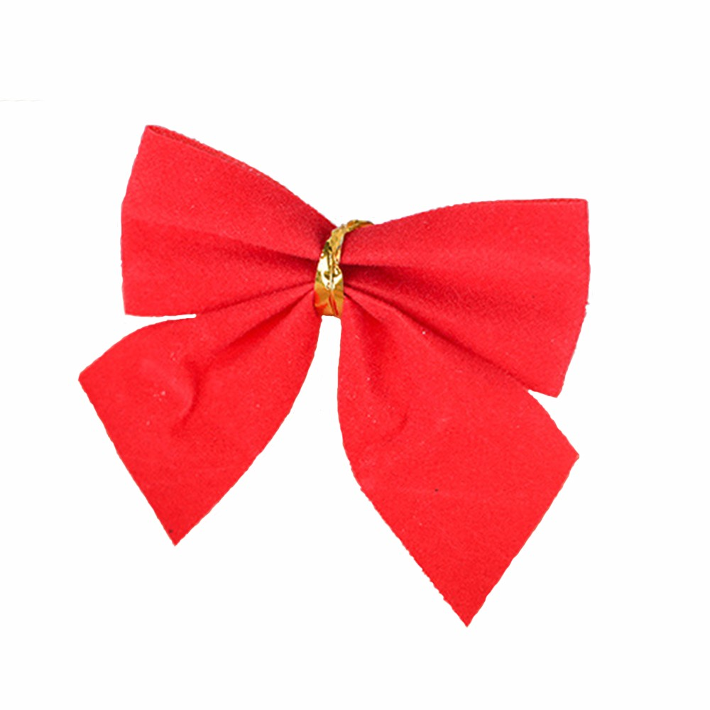 12pc Christmas Decoration Bowknot Christmas Tree Embellishment Gift Wrap Bowknot