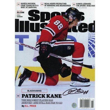 1980 Sports Illustrated Magazine - Patrick Kane Chicago Blackhawks Autographed March 14, 2016 Sports Illustrated Magazine - Frameworth - No Size