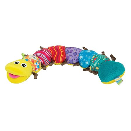 Lamaze - Musical Inchworm Toy, Encourage Tummy Time while Baby Learns and Plays with Music, Bright Colors and Fun Textures, 0 Months and