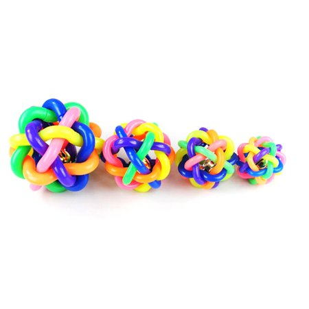 Dog toy ball color rubber woven ball dog toy ball vocal molar rainbow ball - image 6 of 6