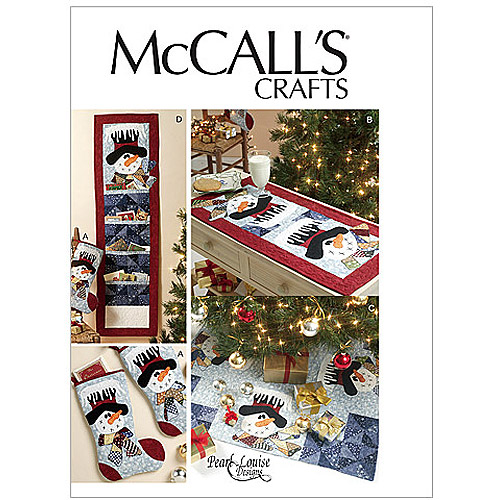 McCall's Pattern Stocking, Runner, Tree Skirt and Card Holder, 1 Size Only