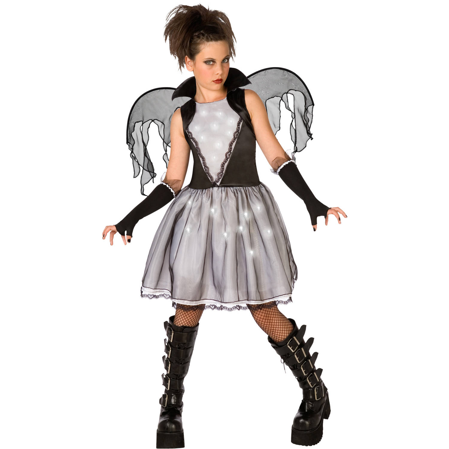 Dark Angel Child Halloween Dress Up / Role Play Costume