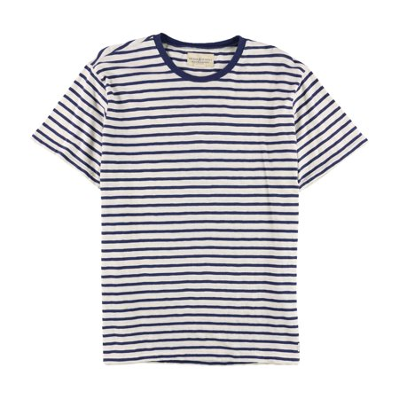 Ralph Lauren Mens Striped Basic T-Shirt, White, XX-Large