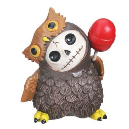 Furrybones Hootie Skeleton Dressed in a Owl Bird Costume Figurine Statuette New