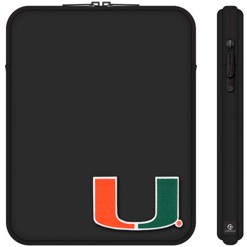 "Centon 10"" Classic Black Tablet Sleeve University of Miami"