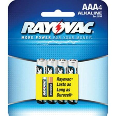 Rayovac 824-4F Rayovac Alkaline AAA Batteries 4-Pack Rayovac 824-4F Rayovac Alkaline AAA Batteries 4-Pack