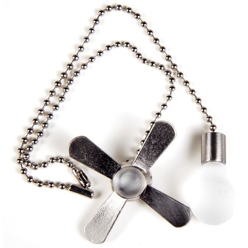 Chapter Fan-Light Bulb Pull Chain Nickel