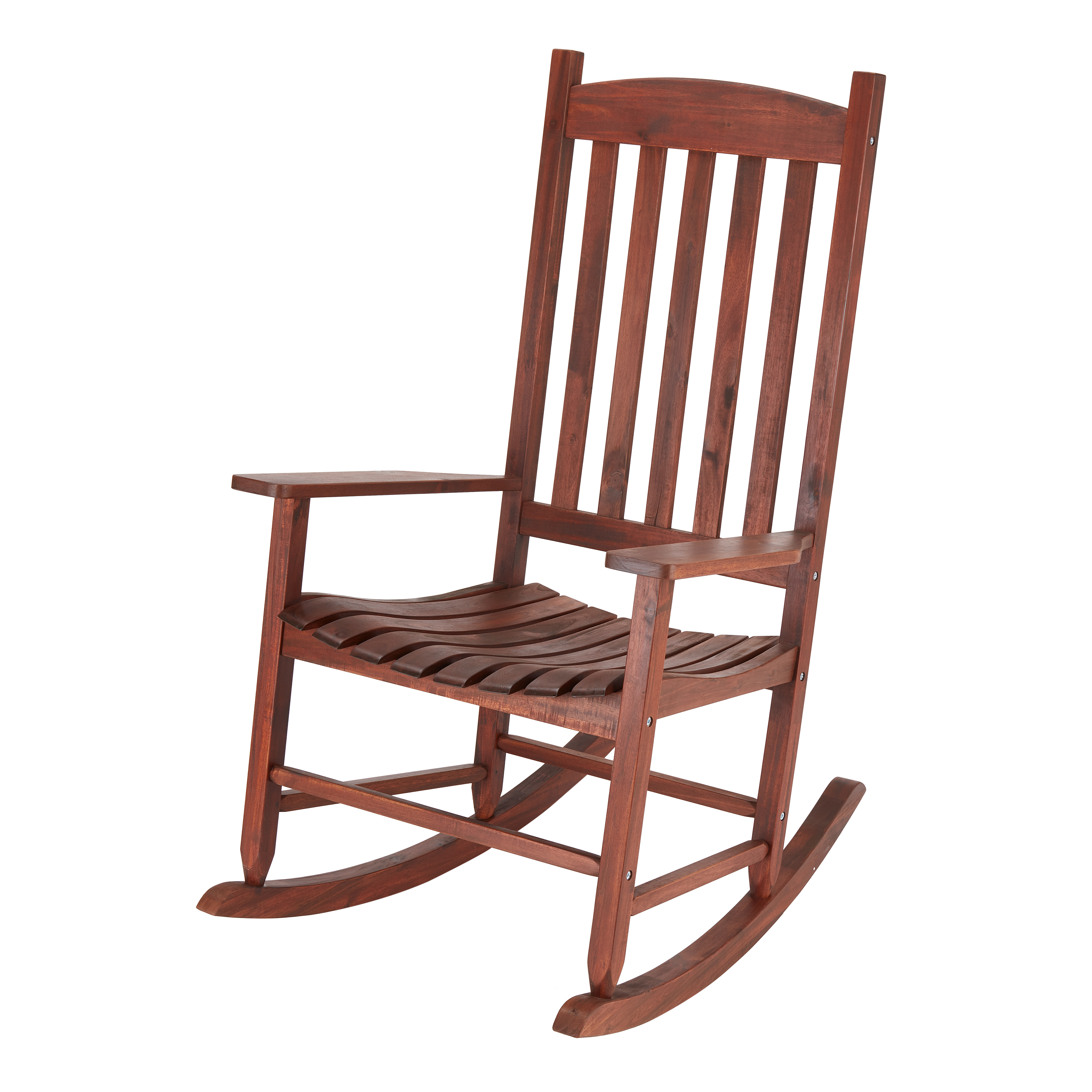 Mainstays Outdoor Wood Slat Rocking Chair