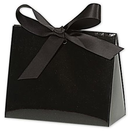Bags & Bows by Deluxe 423GBKPURSE Black Gloss Purse Style Gift Card Holders - Case of 100