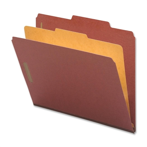 "Classification Folders, 2"" Exp., Legal, 1 Div, 10/BX, Red NAT01053"