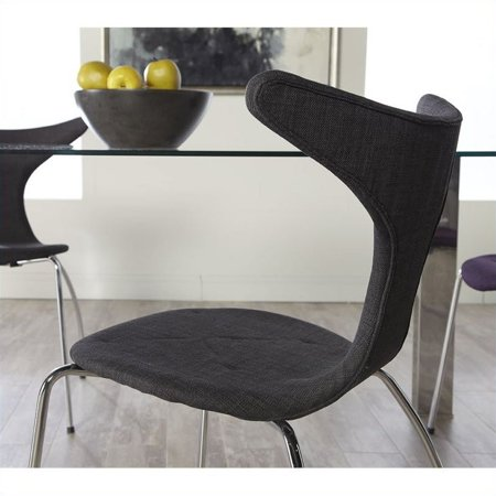 Eurostyle Frida  Dining Chair in Dark Gray Fabric - image 6 of 6
