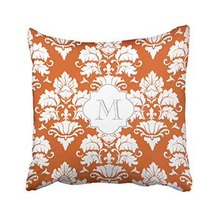 RYLABLUE Decorative Pillowcases White Pumpkin Monogrammed Throw Pillow Covers Cases Cushion Cover Case Sofa 18x18 Inches Two Side - image 1 of 1
