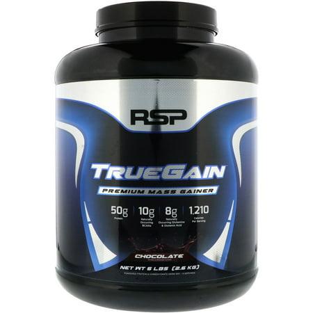 RSP Nutrition  TrueGain Premium Mass Gainer  Chocolate  6 lbs  2 6