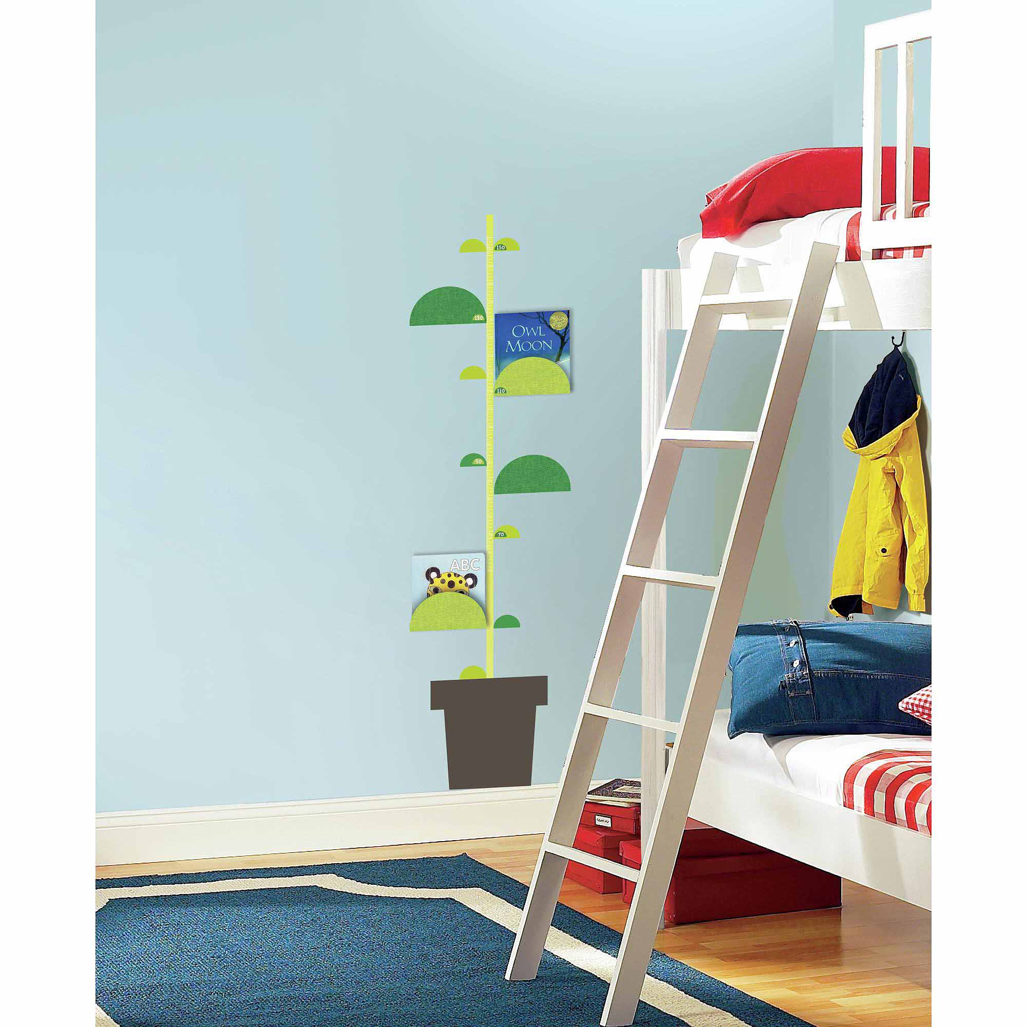 Book Nook and One Decor Peel and Stick Metric Growth Chart Wall Decals
