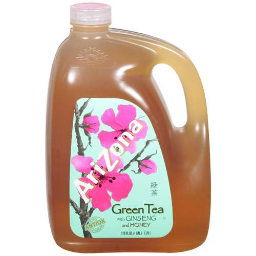 Arizona: Green w/Ginseng & Honey Tea, 128 Fl Oz