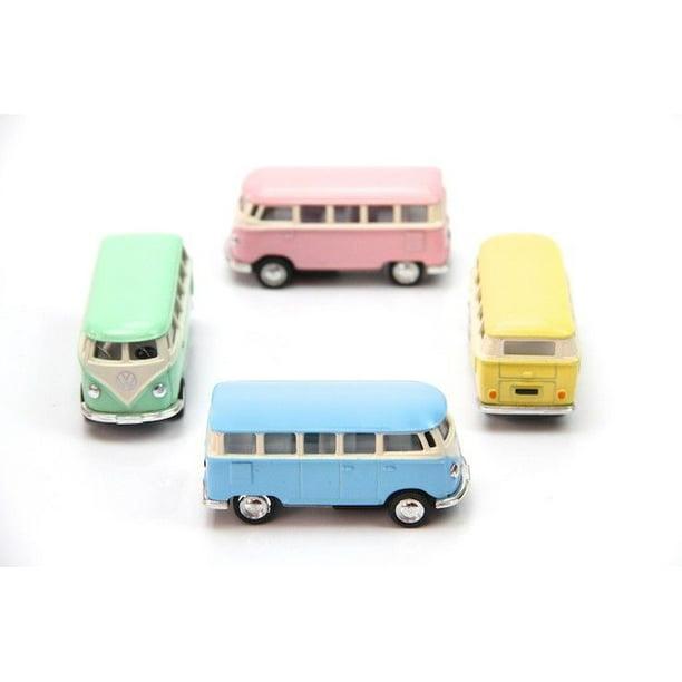 "4PC SET: 2.5"" Kinsmart 1962 VW Volkswagen Bus Diecast"