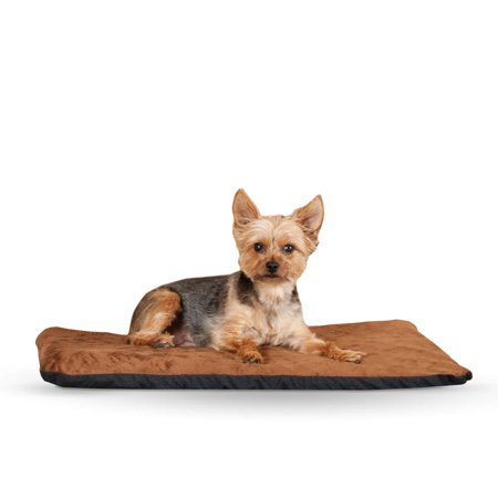 """K&H Pet Products Ortho Thermo Pet Bed Medium Chocolate / Coral  17"""" x 27"""" x 3"""""""